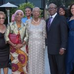 Honoree Hon. Roland Yorke, Consul General of Belize to Los Angeles (front, 2nd from right) with Family and Friends