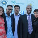 Honorees the Adams - Children of the Caribbean's Jaida, Julien, Justin, Julien (sr) and Rosie