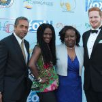 Patrice Johnson (2nd from left) 2017 CaribbeanLens Best Picture Winner with Family and Friends