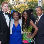 Patrice Johnson (2nd from right) 2017 CaribbeanLens Best Picture Winner with Family and Friends